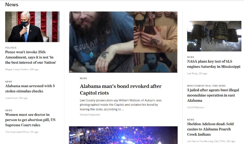 Huntsville Time front page