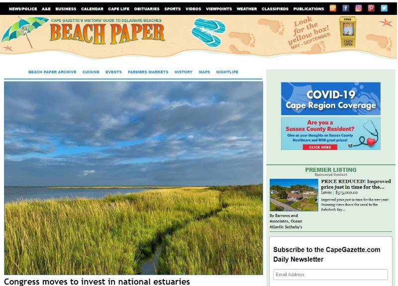 delaware beach paper