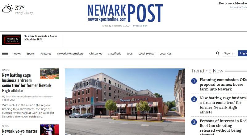 delaware newark post online