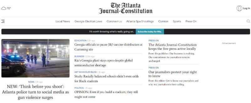 atlanta journal constitution newspaper