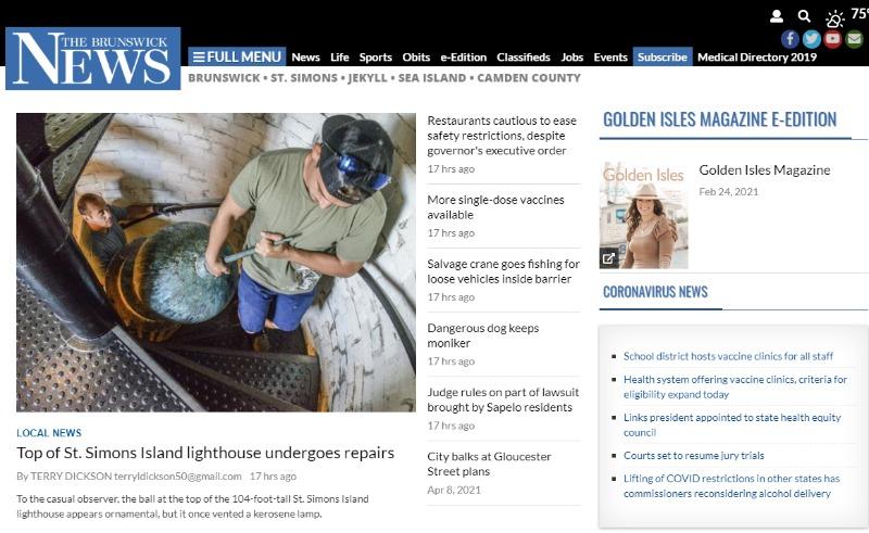 brunswick news newspaper