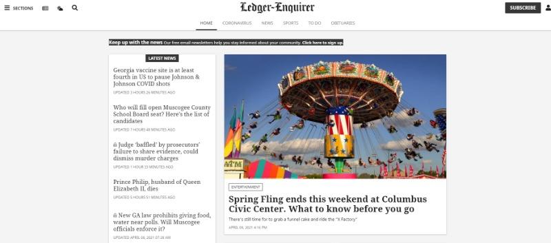 ledger enquirer newspaper