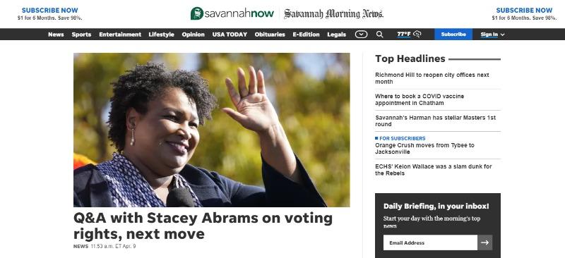 savannah morning news newspaper